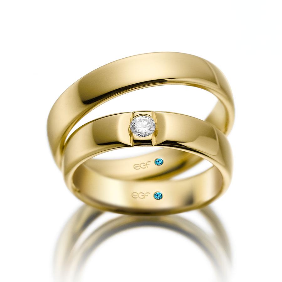 EGF-Trauringe Weißgold 750
