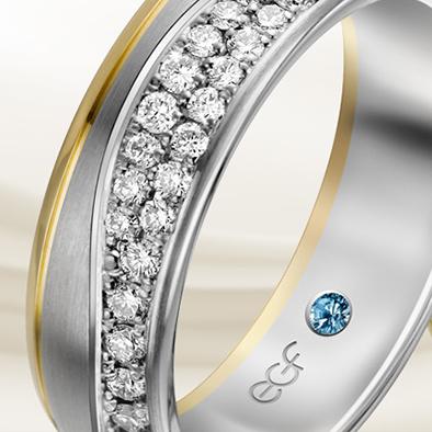 EGF Trauringe: der blaue Diamant | Juwelier Stahl Würzburg