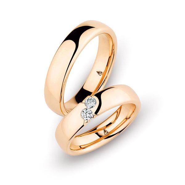 Trauringe Christian Bauer - 2 Diamanten | Juwelier Stahl Würzburg