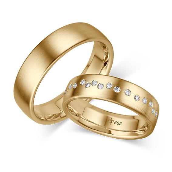 Gelbgold-Trauringe von Giloy | Juwelier Stahl Würzburg